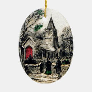 vintage-santa-christmas-post-cards-0005 ceramic ornament