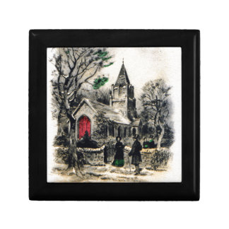 vintage-santa-christmas-post-cards-0005 gift box