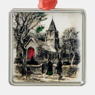 vintage-santa-christmas-post-cards-0005 metal ornament