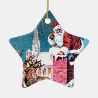 vintage-santa-christmas-post-cards-0011 ceramic ornament