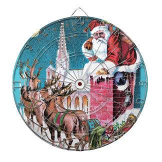 vintage-santa-christmas-post-cards-0011 dartboard