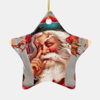 vintage-santa-christmas-post-cards-0017 ceramic ornament
