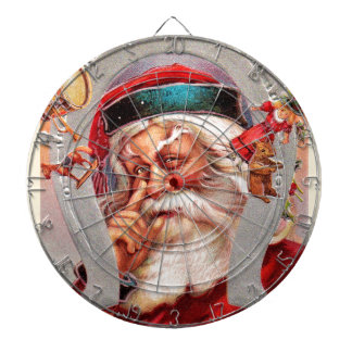 vintage-santa-christmas-post-cards-0017 dartboard