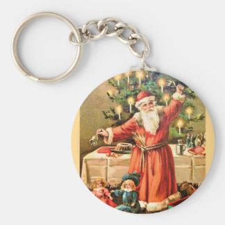 vintage-santa-christmas-post-cards-0018 keychain