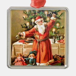 vintage-santa-christmas-post-cards-0018 metal ornament