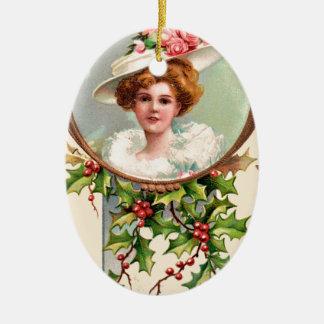 vintage-santa-christmas-post-cards-0019 ceramic ornament