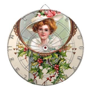 vintage-santa-christmas-post-cards-0019 dartboard