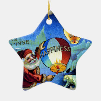 vintage-santa-christmas-post-cards-0025 ceramic ornament