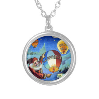 vintage-santa-christmas-post-cards-0025 silver plated necklace