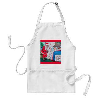 vintage-santa-christmas-post-cards-0026 standard apron