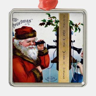vintage-santa-christmas-post-cards-0027 metal ornament