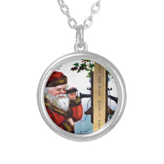 vintage-santa-christmas-post-cards-0027 silver plated necklace