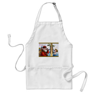 vintage-santa-christmas-post-cards-0027 standard apron