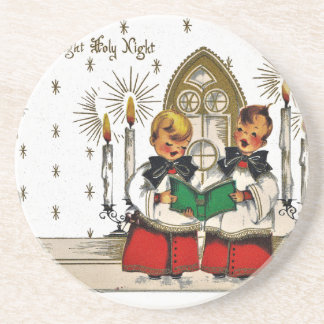 vintage-santa-christmas-post-cards-0029 coaster