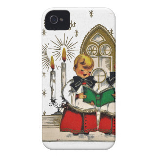 vintage-santa-christmas-post-cards-0029 iPhone 4 covers