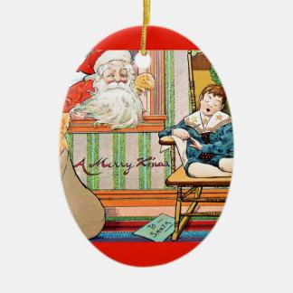 vintage-santa-christmas-post-cards-0042 ceramic ornament