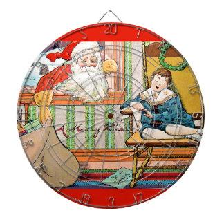 vintage-santa-christmas-post-cards-0042 dartboard