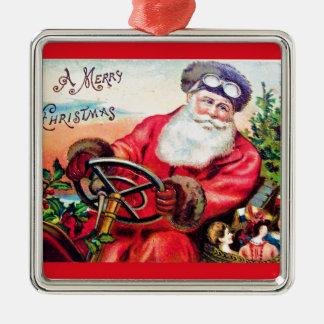 vintage-santa-christmas-post-cards-0125 metal ornament