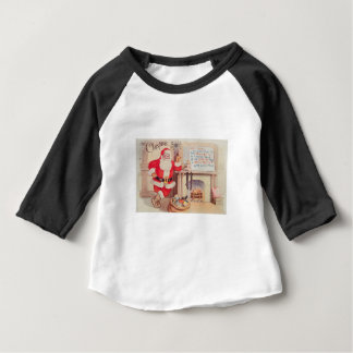 vintage-santa-christmas-post-cards-0355 baby T-Shirt
