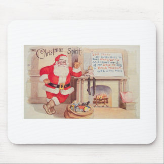 vintage-santa-christmas-post-cards-0355 mouse pad