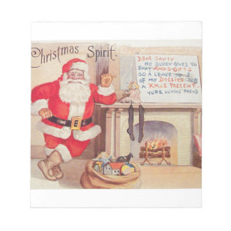 vintage-santa-christmas-post-cards-0355 notepad