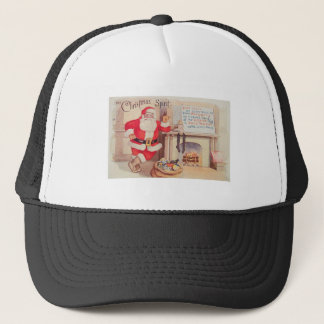 vintage-santa-christmas-post-cards-0355 trucker hat