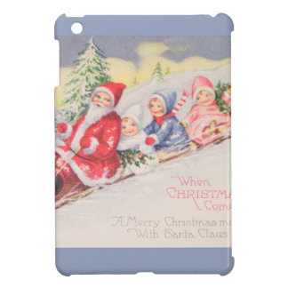 vintage-santa-christmas-post-cards-0390 cover for the iPad mini