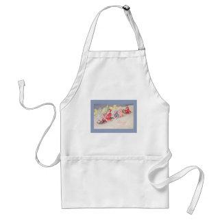 vintage-santa-christmas-post-cards-0390 standard apron