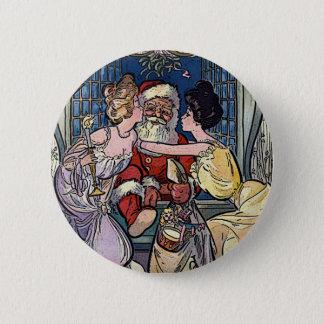 Vintage Santa Claus 2 Inch Round Button
