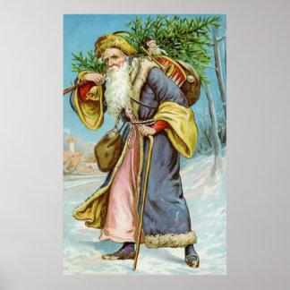 Vintage Santa Claus 4 Posters