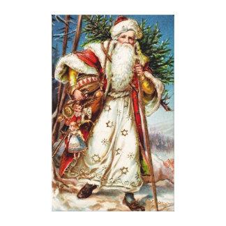 Vintage Santa Claus 5 Canvas Prints