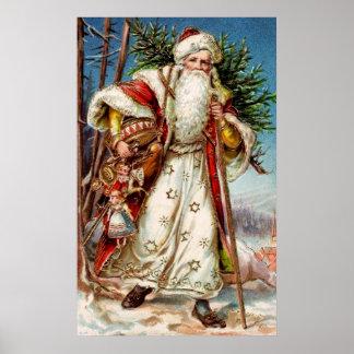 Vintage Santa Claus 5 Print