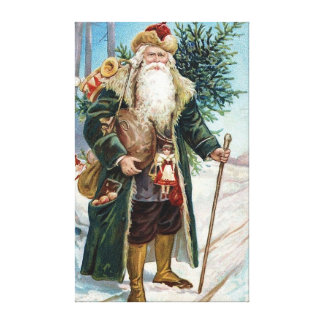 Vintage Santa Claus 6 Canvas Print