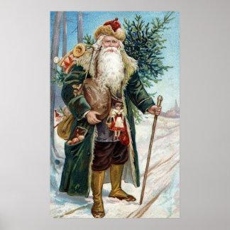 Vintage Santa Claus 6 Poster