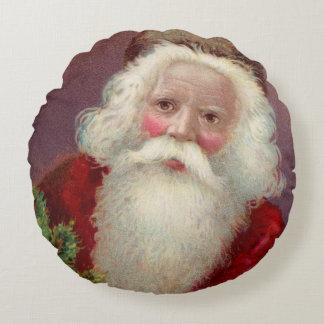 Vintage Santa Claus 7 Round Pillow