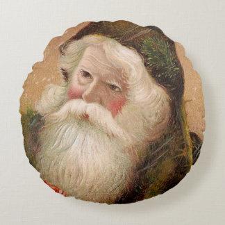 Vintage Santa Claus 8 Round Pillow