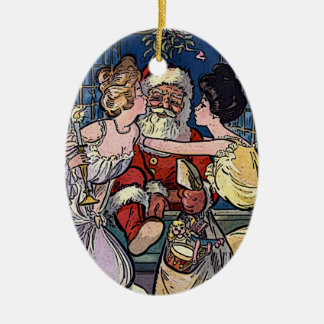 Vintage Santa Claus Ceramic Ornament