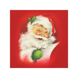 Vintage Santa Claus Christmas Canvas Print