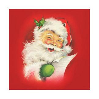 Vintage Santa Claus Christmas Canvas Print