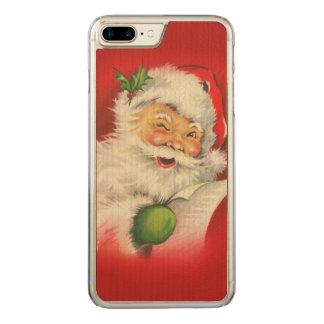 Vintage Santa Claus Christmas Carved iPhone 7 Plus Case