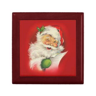 Vintage Santa Claus Christmas Gift Box