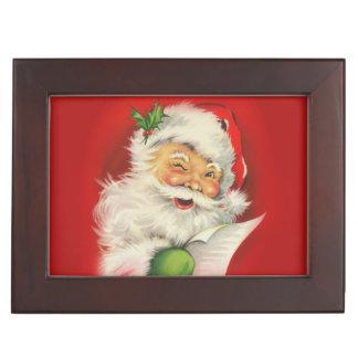 Vintage Santa Claus Christmas Keepsake Box