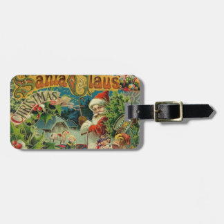 Vintage Santa Claus Christmas Luggage Tag