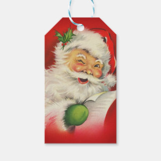 Vintage Santa Claus Christmas Pack Of Gift Tags