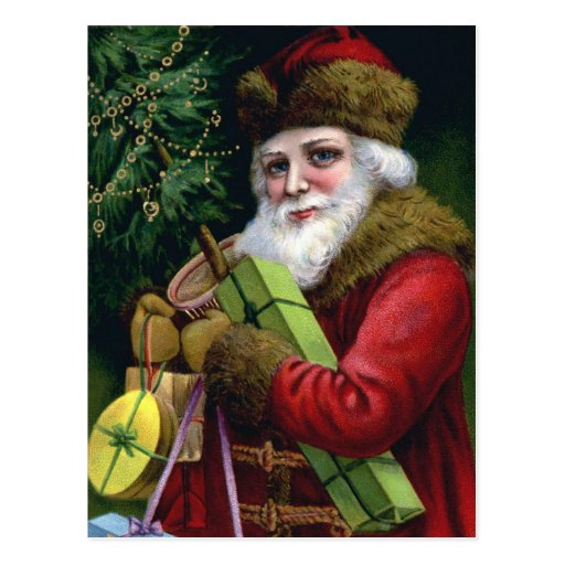 Vintage Santa Claus Christmas Postcard Post Card