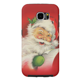 Vintage Santa Claus Christmas Samsung Galaxy S6 Cases