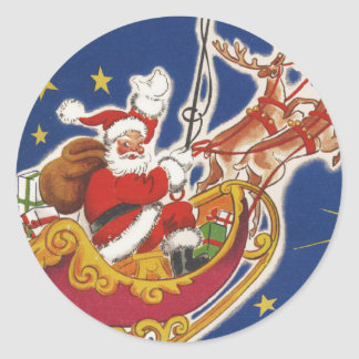 Vintage Santa Claus Christmas sticker