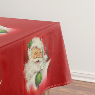 Vintage Santa Claus Christmas Tablecloth