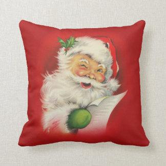 Vintage Santa Claus Christmas Throw Pillow