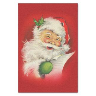 Vintage Santa Claus Christmas Tissue Paper